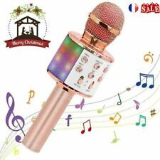 Sans fil Microphone Bluetooth Haut-parleur Portable Karaoké KTV Micro USB FR