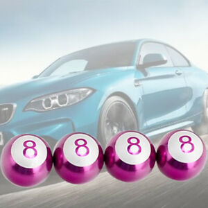 Purple Ball Aluminium alloy tire air valve stem cap wheel For Kia Hyund