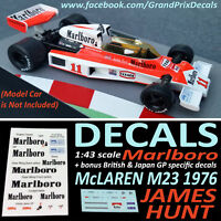 Formula 1 Car Collection DECALS - Marlboro McLaren M23 1976 James Hunt 1:43 IXO