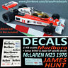 Formula 1 Car Collection DECALS - Marlboro McLaren M23 1976 James Hunt 1:43 IXO