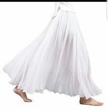Sanrense Women's Casual Cotton Linen Long Maxi Skirt with Elastic Waist Band S-L
