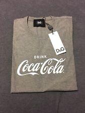 Dolce & Gabbana Men's Classic Coca Cola Print Graphic Tee It50 Heather Gray