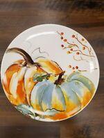 BRAND NEW (2) Prima Design Fall PUMPKIN Salad Plates Home Kitchen Decor