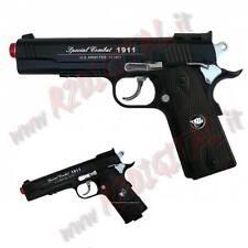 PISTOLA GIOCATTOLO CO2 COMBAT 1911A1 WIN GUN WG C601B 6mm PALLINI BOMBOLETTA