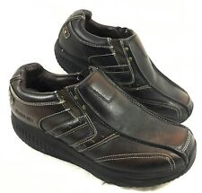 GUC Men's Skechers Shape-Ups Strider Loafers Brown Leather Sz 10 EW