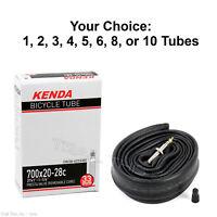 Kenda 700 x 20 23 25 28C 33mm Threaded Presta Valve Road Bike Tube RVC Pack