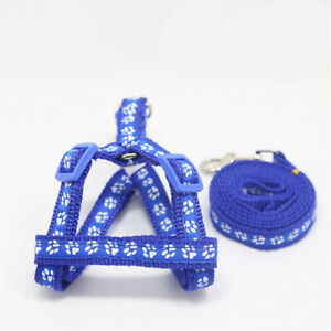 Adjustable Nylon Dog Harness & Leash Set Pets Vest Strap Collar Leads
