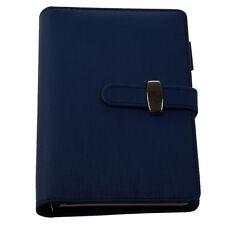 PocketOrganiser Planner Leather Filofax Diary Notebook Blue U6F1