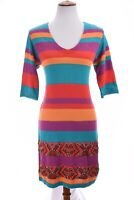 Nanette Lepore Sweater Shift Dress African Beaded Embellished Colorful Sz Small