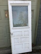 ~Antique Etched Glass (waterfall Scene) Entry Door With Original Hardware