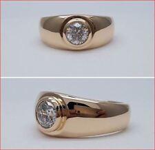 1Ct Round Cut White Moissanite Man's Engagement Wedding Ring 14k Rose Gold