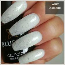 Bluesky WHITE DIAMOND Silver Glitter UV/LED Soak Off Nail Gel Polish