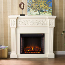 Electric Media Fireplace TV Stand + Remote Fancy Traditional Fire Comfort Heater