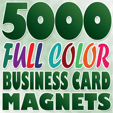 5000 Full Color Custom BUSINESS CARD MAGNETS Printing on 17pt Stock Gloss Finish