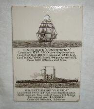 ANTIQUE 1911 TRANSFERWARE WEDGWOOD POTTERY US CONSTITUTION FLORIDA CALENDAR TILE