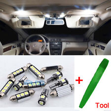 Xenon White Interior Car LED Light Bulbs Kit For Mercedes C Class W204 + Tool