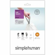 Simplehuman Bin Liners 40 Bags 30-35 Litre Code H  (30-35 litres)