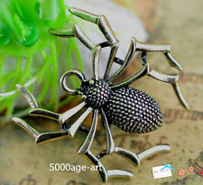 6pcs Tibetan silver bronze charm  spider necklace pendant 35mm A96