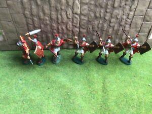 6 Ancient Roman Legionaries Atlantic 60mm plastic toy soldiers