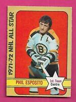 1972-73 OPC # 230 BRUINS PHIL ESPOSITO AS  HIGH # EX+  CARD (INV# D1674)