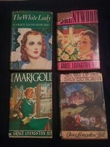 Vintage Grace Livingston Hill Hard Cover With Dust Jacket Lot of 4 Books 1930-41