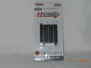 """Williams/bachmann #00264 ez street 2.5"""" straight  to curve  (superstreets)"""