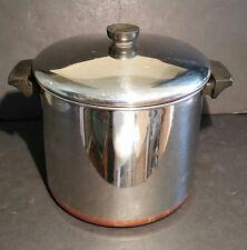 Revere Ware 8 Quart Stock Pot With Lid Copper Bottom 89h