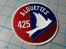 """CAF RCAF 425 Alouettes Squadron Jacket 4"""" Embroidered Sew-On Crest/Patch"""