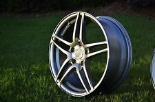 Advan Avs Model 5 wheels Pair 17x7 + 45 SUPER RARE!! Jdm volk work HRE CCW rota