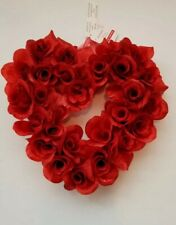 "Ashland Valentine's day Couronne of roses wreath. approx. 11""L × 11""w × 3.25""H"