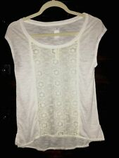 Beautiful American Eagle AERIE Hi-Low Lacey Top- Cream -XXSmall- New w/Tags!