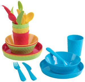 New Kids Dinnerware Set 4 Plates, 4 Bowls, 4 Cups, 4 Forks, 4 Knives, 4 Spoons
