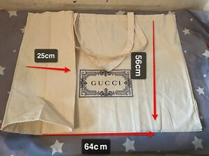100% Authentic Gucci Carrier Canvas Shopping 64x56x25cm GiftBag(Clearance sale)