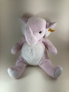 Steiff Little Baby Pink Super Soft Elephant Stuffed Animal Made in Germany