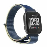 For Fitbit Versa 2 1 Lite SE Soft Woven Nylon Band Replacement Watch Strap Blue