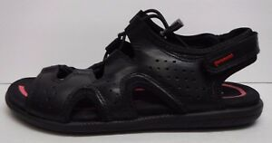 Ecco Eur Size 36 US 5 5.5 Black Leather Sandals New Womens