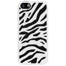 For Apple iPhone 5/5S/SE Rubber IMPACT HYBRID Case Skin Phone Cover Zebra