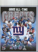 NY GIANTS SIGNED ALL TIME GREATS 8X10 PHOTO LAWRENCE TAYLOR YA TITTLE AUTO