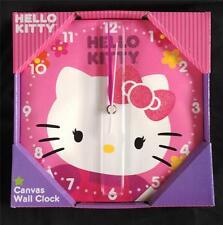 Hello Kitty Canvas Wall Clock,  NIB