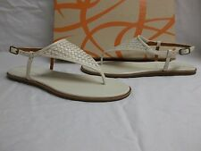 Via Spiga Size 6.5 M Aislin Cream Leather T Strap Sandals New Womens Shoes