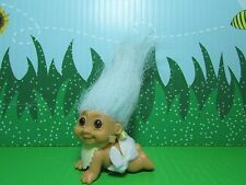 CRAWLING BABY - Russ Troll Doll - NEW IN ORIGINAL WRAPPER - Pastel Blue Hair