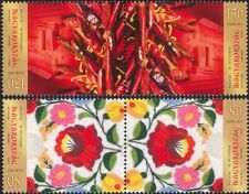 Hungary 2012 Stamp Day/Kalocsa/Paprika/Plants/Embroidery 2v set t-b prs (n45751)