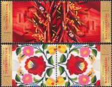Hongrie 2012 JOURNEE DU TIMBRE/Kalocsa/Paprika/Plantes/broderie 2 V Set T-B PRS (n45751)