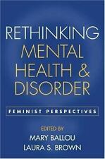 Rethinking Mental Health and Disorder: Feminist Perspectives-ExLibrary