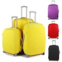 "18""- 30"" Plain Elastic Luggage Suitcase Cover Dustproof Protector Protective G"