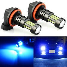 JDM ASTAR 2x Blue H11 H8 H9 High Power 36-SMD 1600LM LED Fog Driving Light Bulbs