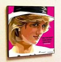 Princess Diana Painting Decor Print Wall Art Poster Pop Canvas Quotes Decals