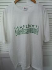 Hanes Blackthorn Size Adult Xl White With Green Lettering T Shirt No Tag
