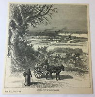 1885 magazine engraving ~ GENERAL VIEW OF LOUISVILLE, KY