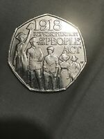 Rare 50p Coin UK – Representation of the People Act 2018